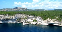 widok na klif Bonifacio