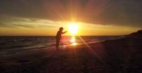 Przepiękny wschód słońca - Łeba