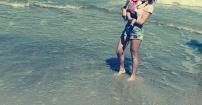 Pierwsze spotkanie Liliannki z morzem